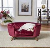 Enchanted hondenmand / sofa romy wijnrood_
