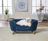Enchanted hondenmand / sofa romy peacock blauw_