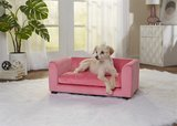 Enchanted hondenmand / sofa cookie roze_