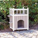 Trixie kattenhuis cat's home met balkon grijs / wit_