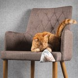 Canadian cat mini pyramide set met catnip bruin / beige_