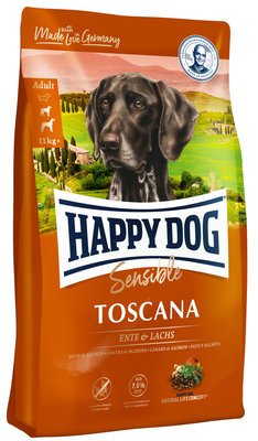 Happy Dog Sensible Toscana - Eend & Zalm - 12,5 kg