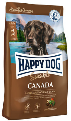 Happy Dog Sensible Canada - Zalm & Konijn & Lam - 12,5 kg