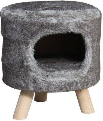 Petcomfort Kattenmand Poef Tim grijs 40x40x45 cm