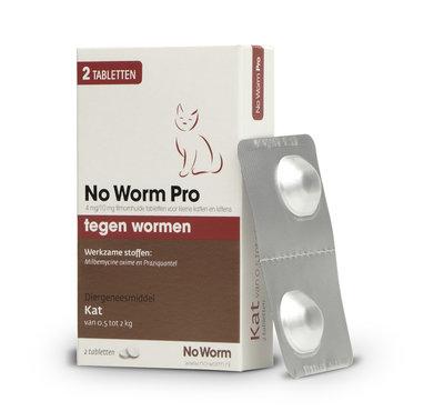 No Worm Pro Kleine Kat & Kitten 0.5 tot 2 kg - 2 tabletten