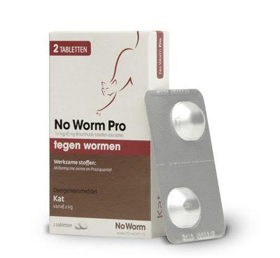 No Worm Pro Kat 2 tot 12 kg - 2 tabletten