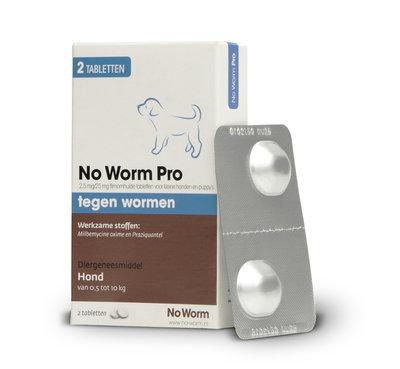 No Worm Pro Kleine Hond & Puppy 0.5 tot 10 kg - 2 tabletten