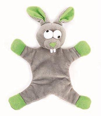 Happy pet freaky flatliner pluche konijn grijs / groen