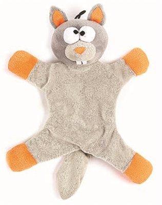 Happy pet freaky flatliner pluche eekhoorn grijs / oranje