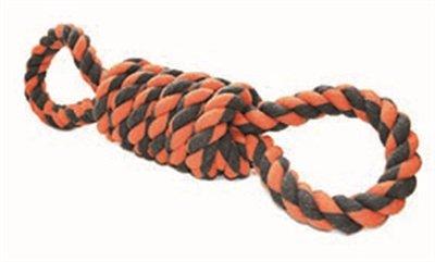 Happy pet nuts for knots extreme spoel 8 vorm tugger grijs / oranje