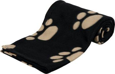 Trixie barney fleece hondendeken zwart/beige