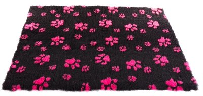 Vetbed poot zwart / roze
