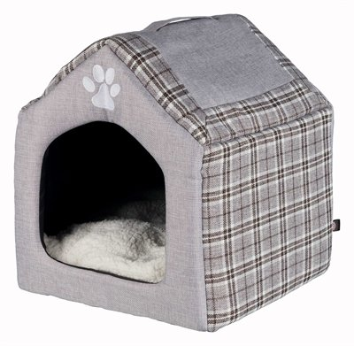 Trixie relax iglo hondenhuis silas grijs/creme