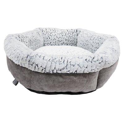 Rosewood hondenmand luxury plush rond grijs