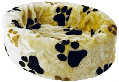 Petcomfort katten/hondenmand bont  beige grote poot