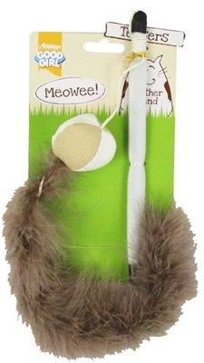 Meowee kattenhengel bal met veer
