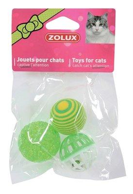 Zolux kattenspeelgoed ballen groen