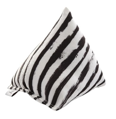 Canadian cat cuddle pyramide zebra met catnip zwart / wit