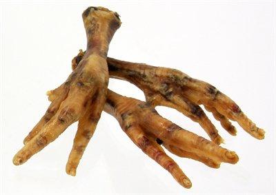 Petsnack kippenpoten gerookt bruin