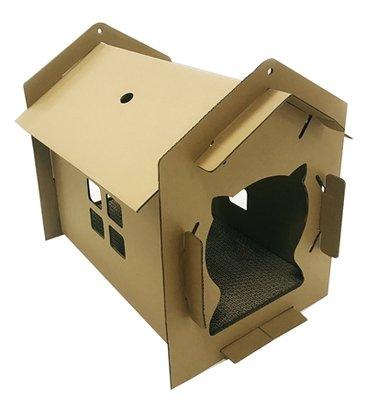 Croci kattenhuis villa karton bruin