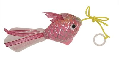 Happy pet mermaid goudvis aan touw roze
