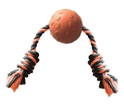 Happy pet tough toys ball tugger oranje