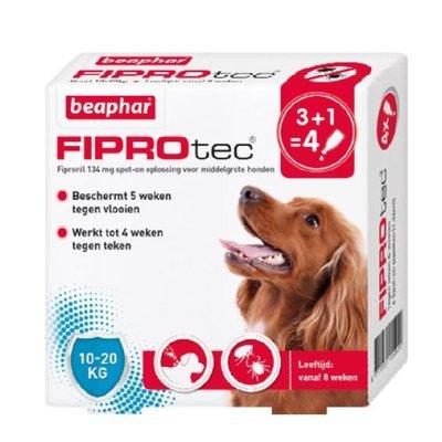 Fiprotec Hond 10-20kg 3+1 pipetten