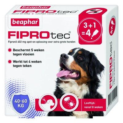 Fiprotec Hond 40-60kg 3+1 pipetten
