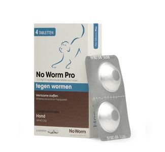 No Worm Pro Hond 5 tot 75 kg - 4 tabletten