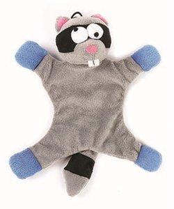 Happy pet freaky flatliner pluche wasbeer grijs / blauw