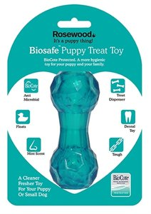 Biosafe puppy snack dumbell blauw