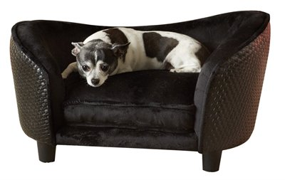 Enchanted hondenmand sofa ultra pluche snuggle wicker bruin