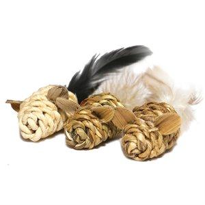 Jolly moggy natural wild speelmuis mini met catnip