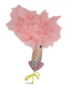 Happy pet mermaid inktvis met veren roze