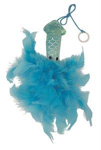 Happy pet mermaid inktvis met veren blauw