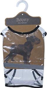 Boony honden regenjas transparant met reflectie (OP=OP)