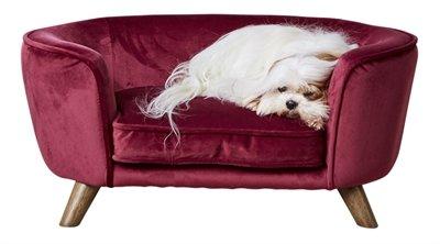 Enchanted hondenmand / sofa romy wijnrood
