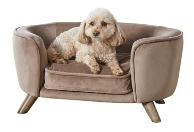 Enchanted hondenmand / sofa romy stone lichtbruin