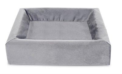 Bia bed royal fluweel overtrek hondenmand grijs