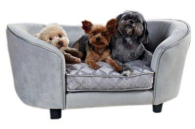 Enchanted hondenmand / sofa constantine zilverkleurig