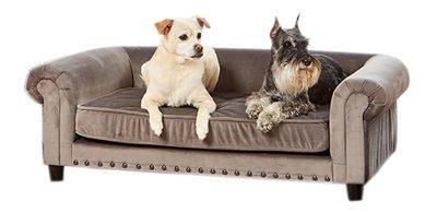 Enchanted hondenmand / sofa manchester grijs