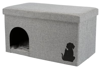 Trixie kattenhuis kimy grijs