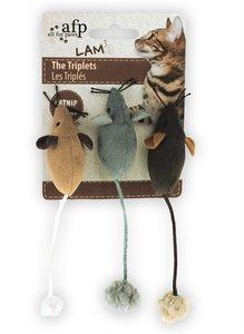 Afp muis the triplets lamswol met catnip assorti