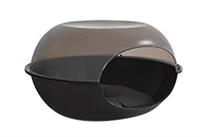 Martin sellier kattenmand capsule kunststof zwart / transparant
