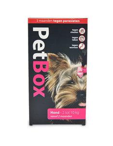 Petbox Hond / Puppy - 3 maanden tegen parasieten - 2 tot 10 kg