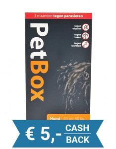 Petbox Hond - 3 maanden tegen parasieten - 40 tot 50 kg