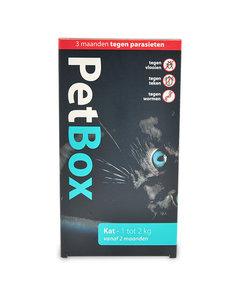 Petbox Kat / Kitten - 3 maanden tegen parasieten - 1 tot 2 kg