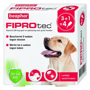 Fiprotec Hond 20-40kg 3+1 pipetten