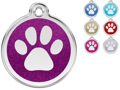 Red Dingo Penning Paw Print Glitter