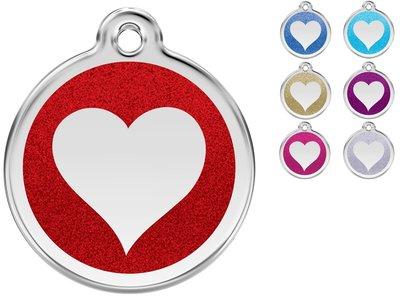 Red Dingo Penning Heart Glitter